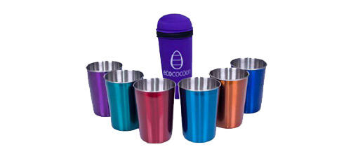 Ecococoon Stainless Steal cups from Ecobabe