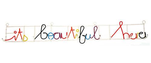 Heath Nash 'It's Beautiful Here' coat rack from iKHaYa