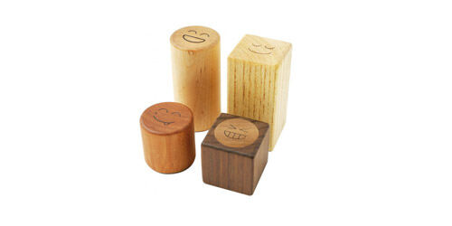 Soopsori wooden block rattles from Mudd Kids