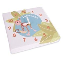 Personalised canvas clocks available from Stuck On You