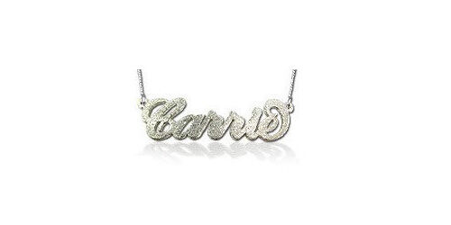 Personalised nameplate necklaces from BOWtique