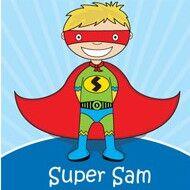 Bright Star Kids super hero canvas