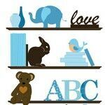 Amy Shaw 'bookshelf' wall stickers from The Wall Sticker Company
