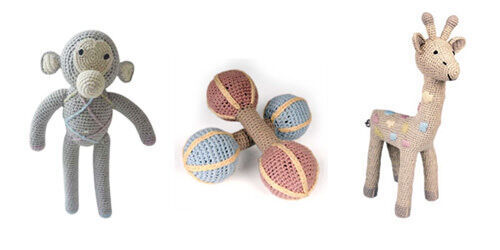 Hand crochet toys by Anne-Claire Petit for Clucky