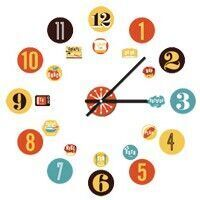Mister Mista 'Time 2' wall decal clock