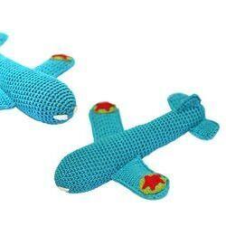 Rambler crocheted aeroplane rattle