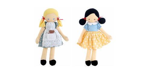 Alimrose Snow White and Goldilocks dolls