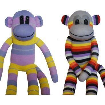 Monkey and Me sock monkeys