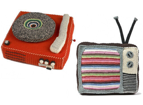 Anne Claire Petit crochet record player and TV