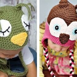 Happy Hooks hand crochet animal beanies