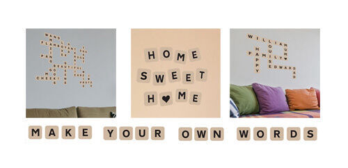 Scrabble Word Tile Wall Stickers