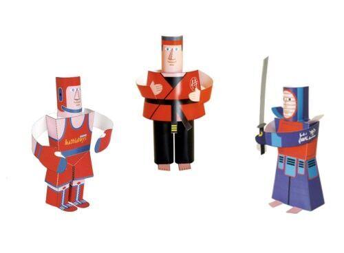 Hartia Toys martial arts paper craft figures