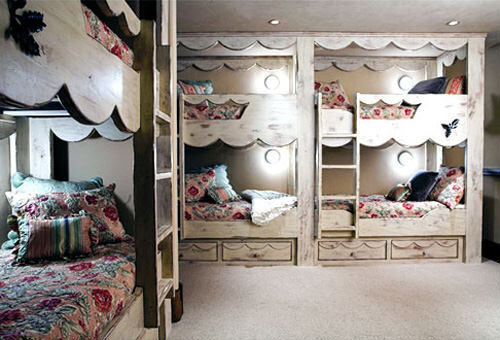 Bunk beds: shabby chic