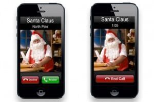 parents calling santa iPhone app