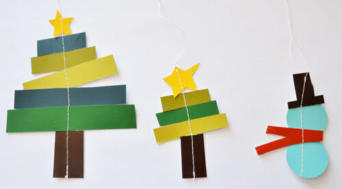 Christmas craft - paper ornaments