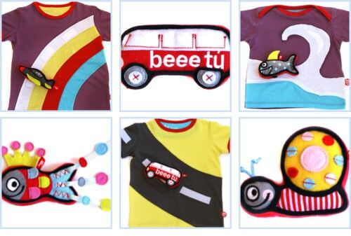BeeeTu velcro clothing with toys attached