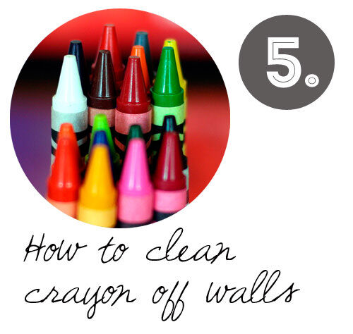 DIY cleaning tips: how to remove crayon from walls