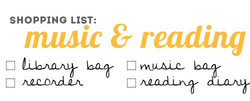 Back to school: book bags, music bags