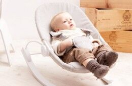 Bloom Coco Go baby lounger and rocker in Grey