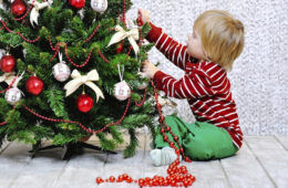 Toddler-proofing a Christmas tree