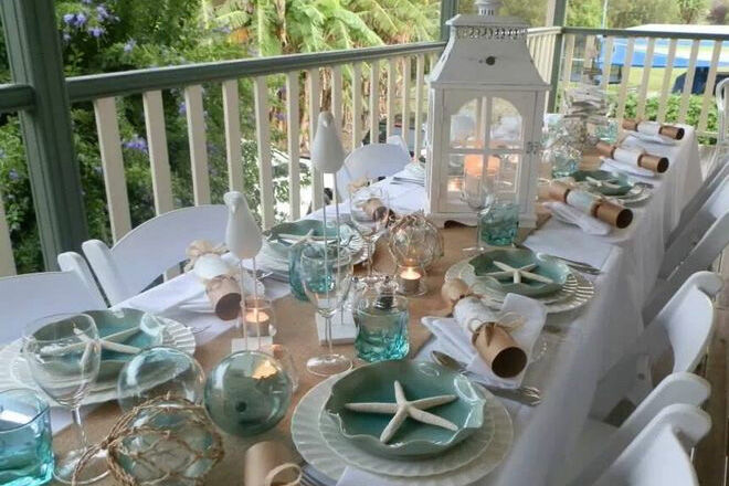 Coastal Christmas table