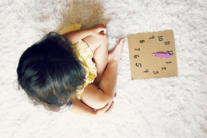 learning to tell the time practice clock for kids