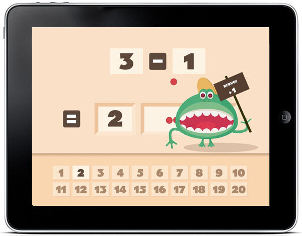 Fun monsters combine with essential number skills in this award winning app for children