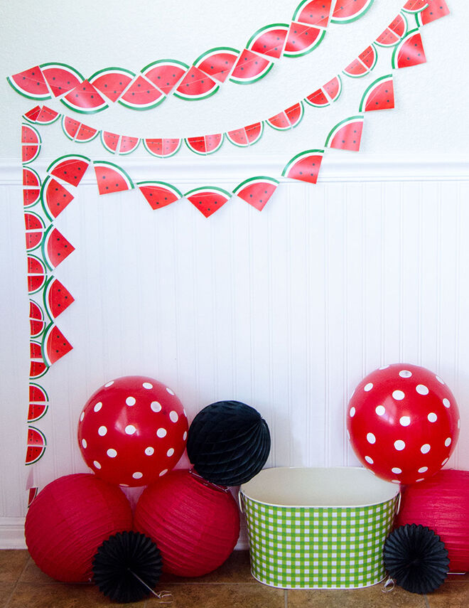 watermelon - garland