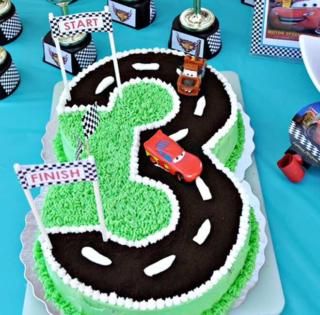 Birthday Cakes for Boys: Cars Race Track via The Domestic Project | Mum's Grapevine
