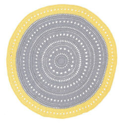 Yellow & Grey Floor Rug