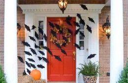 Decorating front doors for Halloween