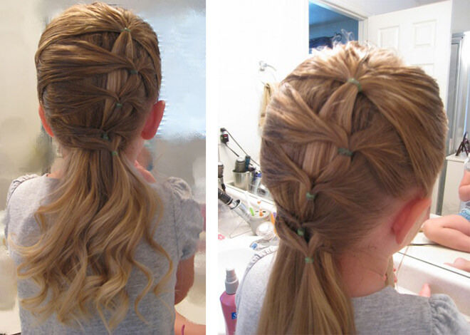 How easy is this ponytail!   Mum's Grapevine