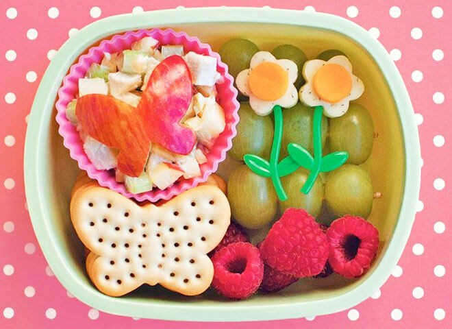 this butterfly bento lunchbox is a tasty take on spring for your little dumpling.