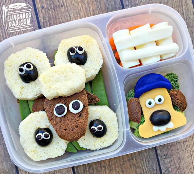 Shaun the sheep bento lunch box