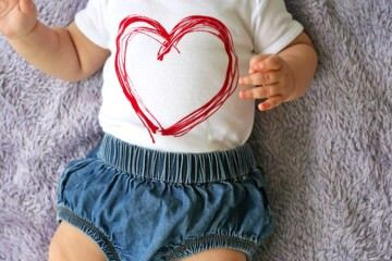 12 sweet onesies for baby's first Valentine's Day