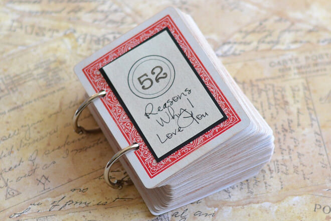 Valentine's gift idea - 52 reasons why I love you