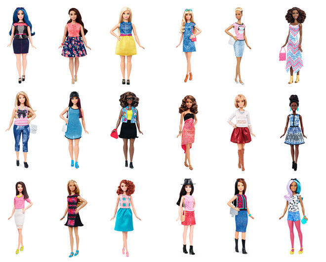 Barbie launches new body shapes