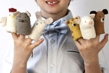 Down to the woods finger puppets