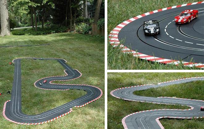 How to build a backyard race track.