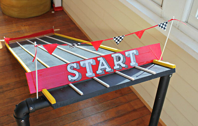 View from the Fridge. How to build a backyard racing track.