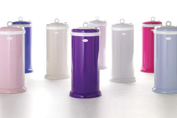 Designer nappy bins in modern colours