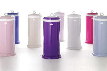 Designer nappy bins in modern colours
