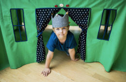 DIY kids cubby
