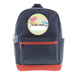 Hippo Blue personalised backpack