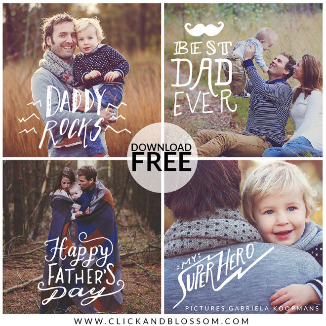 Fathers day photos overlays