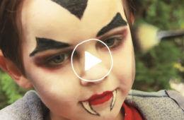 DIY Dracula face painting