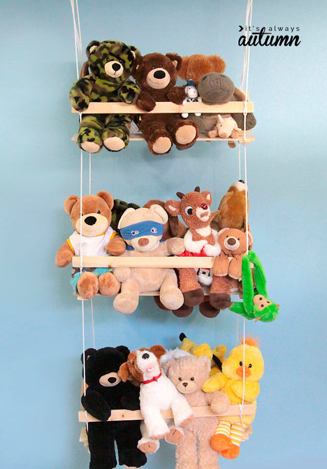 its always autumn soft toy storage toddler