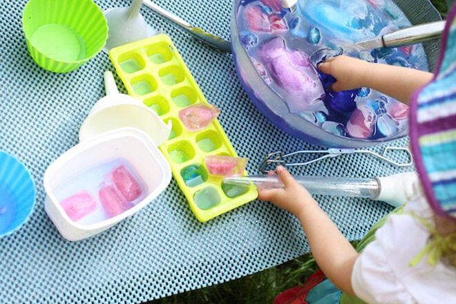ice water play toddler