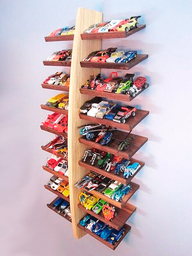 storing toy cars storage wooden