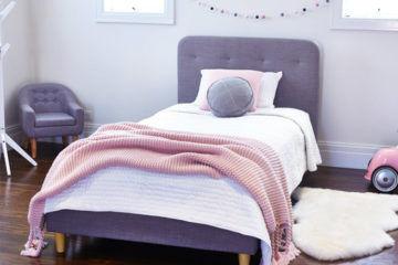Hip Kids Harlow Single Upholstered Bed